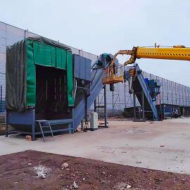 小型集装箱粉料中转站粉煤灰卸车机水泥拆箱机