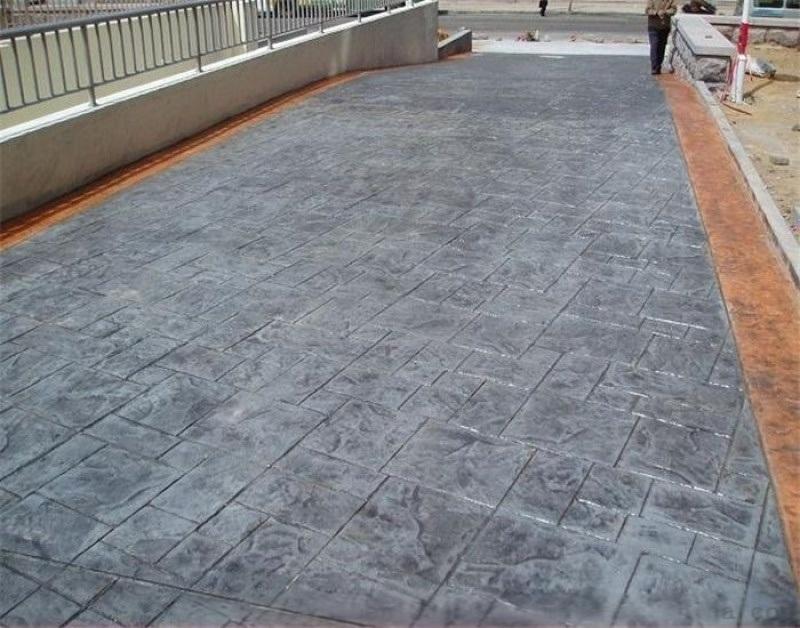 寧夏生態透水混凝土藝術壓花混凝土自產自銷