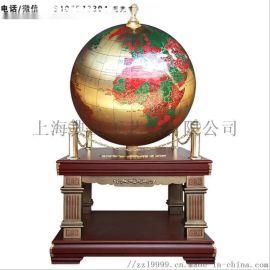 太原纯铜地球仪落地摆件定制、公司大厅装饰品厂家直销