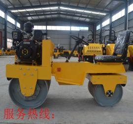 驾驶式路面压实机 双钢轮压路机 全液压振动压土机
