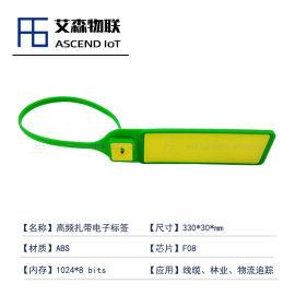 仓储货柜跟踪管道线路巡检高频RFID扎带标签