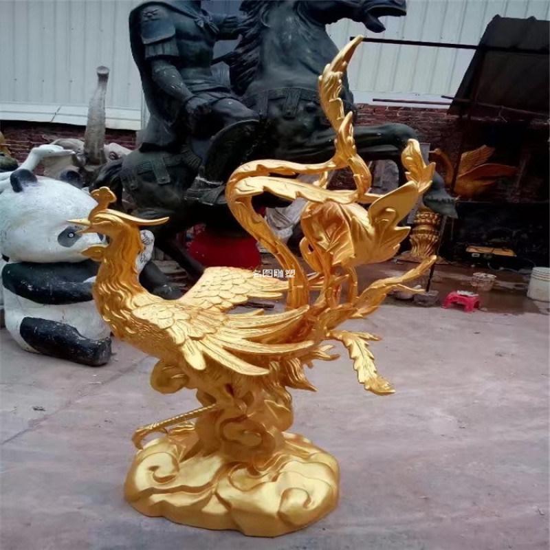 動物玻璃鋼雕塑 鳳凰雕塑