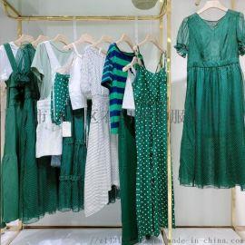 20夏装新款大码女装专柜连衣裙品牌折扣女装走份