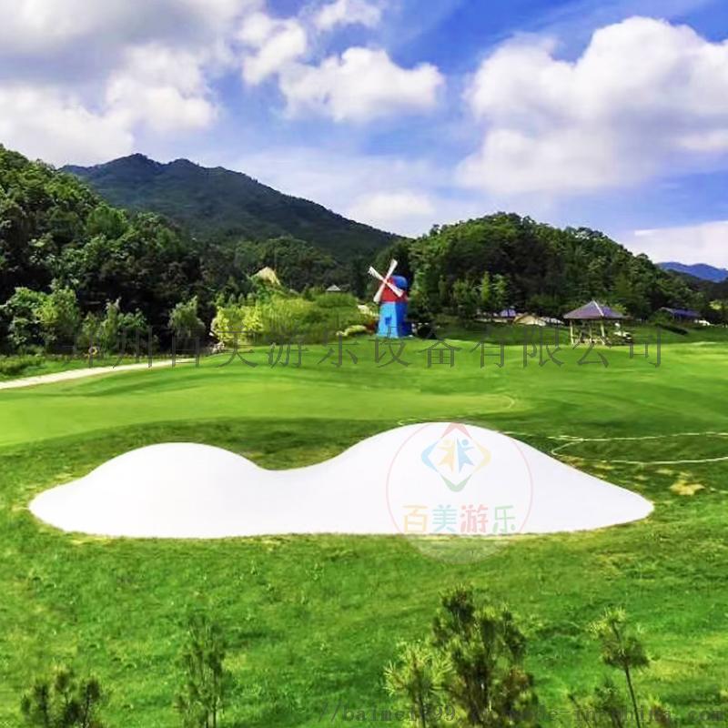 江蘇蘇州陸地新奇充氣蹦牀雲朵蹦蹦雲漂亮好經營