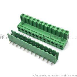 拔插式PCB接线端子5.08环保铜