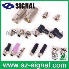 盛格纳电子生产供应M12 5pin母头连接器