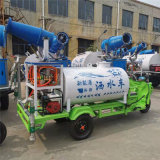 工程降尘小型电动洒水车, 水雾降尘新能源洒水车
