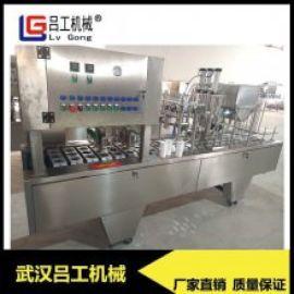 全自动塑杯灌装封口机 酸奶果汁液体膏体灌装封口机