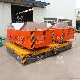 车间运件电动车,10吨遥控平板车,防爆有轨电动平车