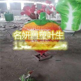 农场主题玻璃钢水果雕塑水果屋