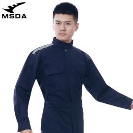 出口长袖工作服棉质防静电连体制服物流工装服跨境