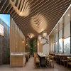 新城區造型木紋鋁方通 下城區波浪金屬鋁方通吊頂