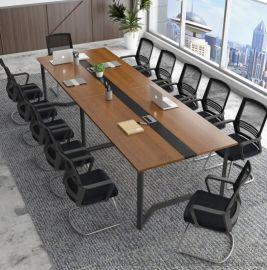 会议桌洽谈桌简约现  公桌员工培训桌