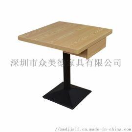 方形餐桌,实木桌面,铁艺风格