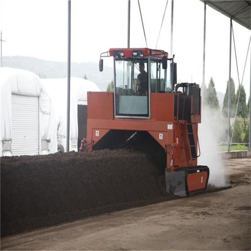 翻拋設備:有機肥翻堆設備,發酵翻拋機,履帶式條垛翻堆機