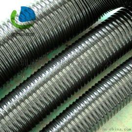 黑色PVC钢丝伸缩软管 PVC钢丝风管 木工吸尘管