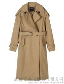 快时尚女装进货译外20年冬装新款女式风衣外套