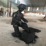 广州增城文化创意园玻璃钢农耕人物小品雕塑