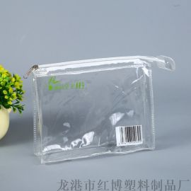 厂家定制pvc立体拉链袋化妆袋 酒店洗漱用品收纳袋
