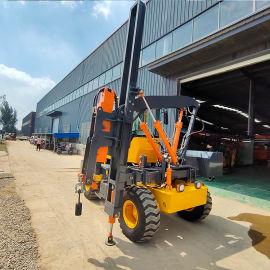 高速打桩机 马路护栏打桩机 地基建筑工程打桩机