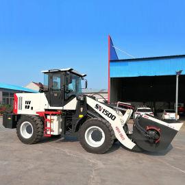 下卸料拌和均匀野外修路停电施工搅水泥铲车带搅拌斗