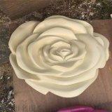 揭阳玻璃钢玫瑰花造型雕塑室内美陈装饰