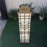 青古銅拉絲壁燈現代中式外牆燈仿雲石大門柱子燈