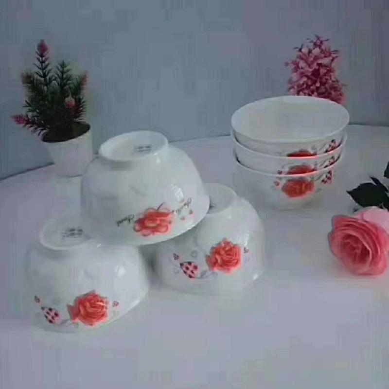 夜市庙会彩瓷花瓷白瓷餐具2元模式好做吗