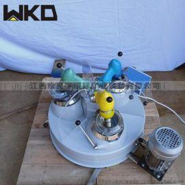 小型实验用三头研磨机 化验室磨矿设备 玛瑙研磨机