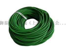上海御秦传动带10mm粗面机械设备O型传动绿色圆带