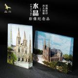 廣州聖心石室教堂水晶紀念品擺件定做耶穌   建築