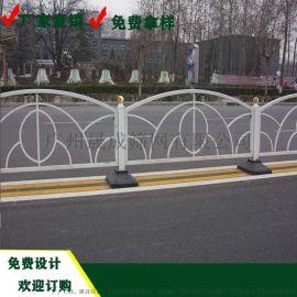 工厂热镀锌市政护栏 城市道路白色护栏 交通设施围栏