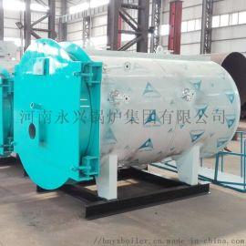 厂家直销1吨卧式燃气承压热水锅炉