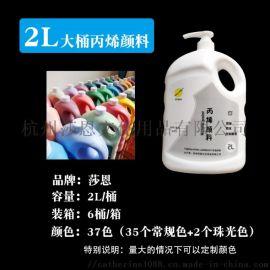 2L  颜料套装大桶  颜料亮光  压泵瓶