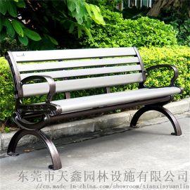 户外塑木铸铝公园椅 东莞天鑫A-002公园椅