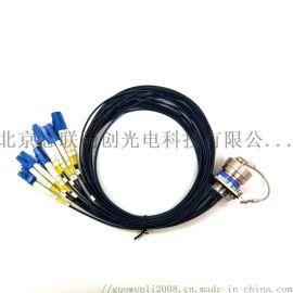 J599系列多芯光纤连接器 D38999插座插头 IP68防水光纤连接器组件