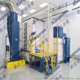 建筑铝模板自动喷粉市场线 铝模爬架网喷塑生产线
