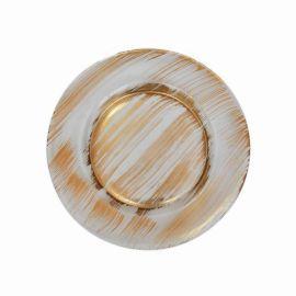 擦金箔玻璃圆盘13英寸