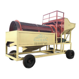 大型滚筒式筛沙机石料振动筛折叠式筛沙机