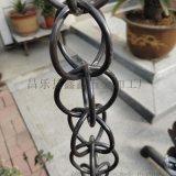 排水装饰铝合金雨水链雨链 山东济宁排水链雨链