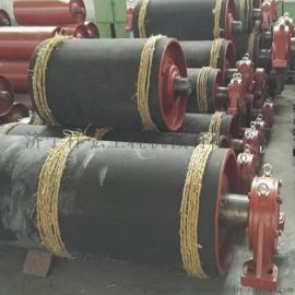 一米胶带输送机500改向滚筒 矿用阻燃包胶改向滚筒