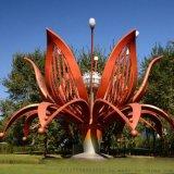 公園不鏽鋼花朵綻放雕塑