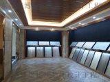 东莞谢岗展厅装修 石膏板与木格栅吊顶的使用
