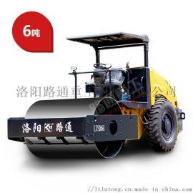 6吨路通单钢轮压路机高配车型强劲动力高压实度