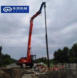 打桩引孔钻机 挖机属具螺旋钻钻桩机