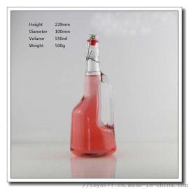 500ml樂扣把手油瓶,酵素玻璃瓶