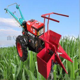 手扶带玉米收获机 单行苞米收割机