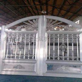 滄州鋁藝庭院大門小區隔離欄造型美觀