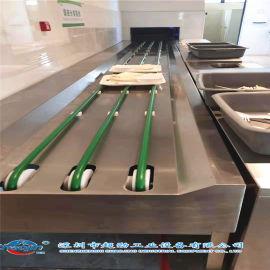 智能餐具回收输送线 食堂碗筷收集传送带