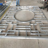 菱角造型焊接铝花格 正方形焊接铝花格 来图定制